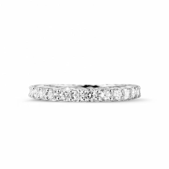 1.56 Karat Diamant Memoire Ring aus Weißgold