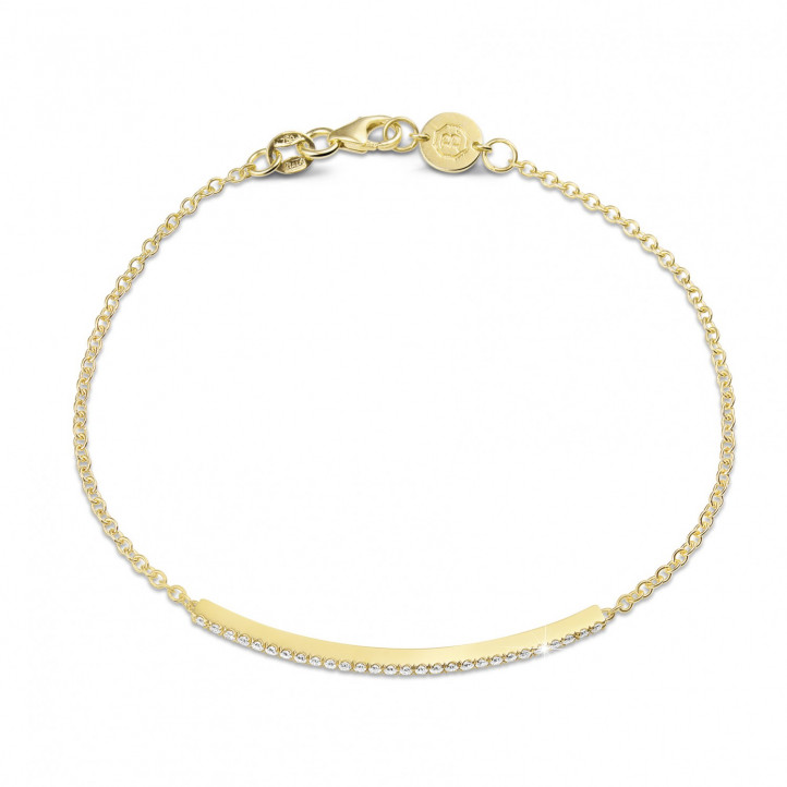 0.25 Karat feines diamantenes Armband aus Gelbgold