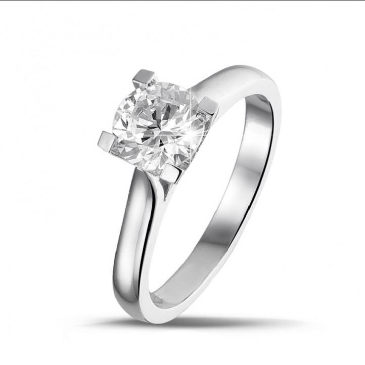 1.00 Karat Solitärring aus Weißgold mit einem Diamanten von außergewöhnlicher Qualität  (D-IF-EX)