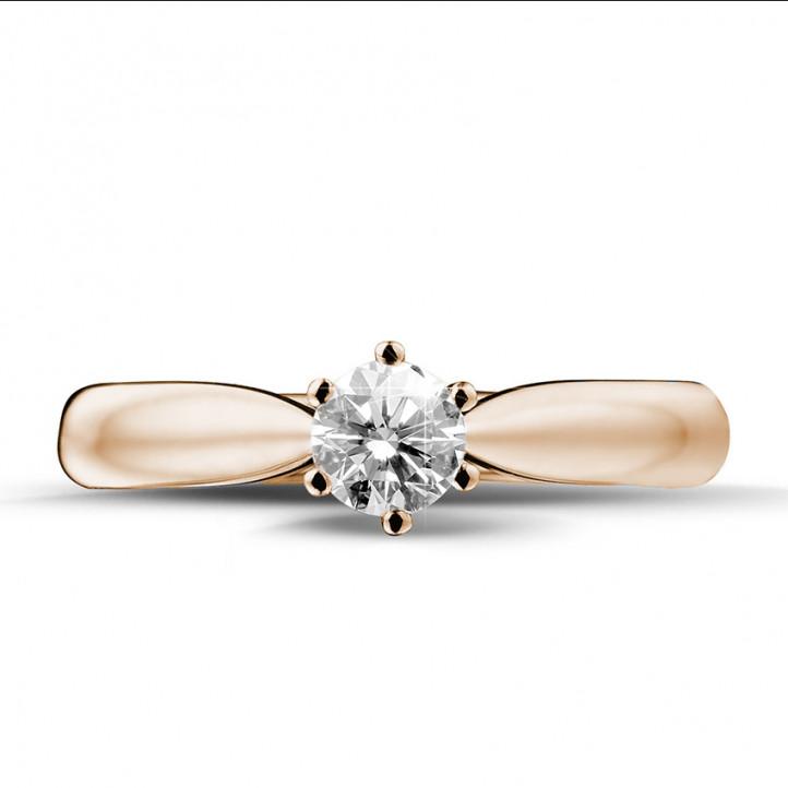 0.30 Karat diamantener Solitärring aus Rotgold