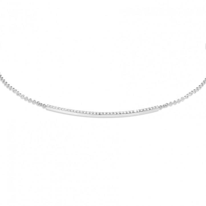 0.30 Karat feine diamantene Halskette aus Weißgold