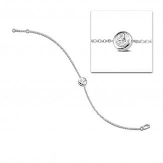 Armbänder - 0.70 Karat diamantenes Armband in Zargenfassung aus Platin