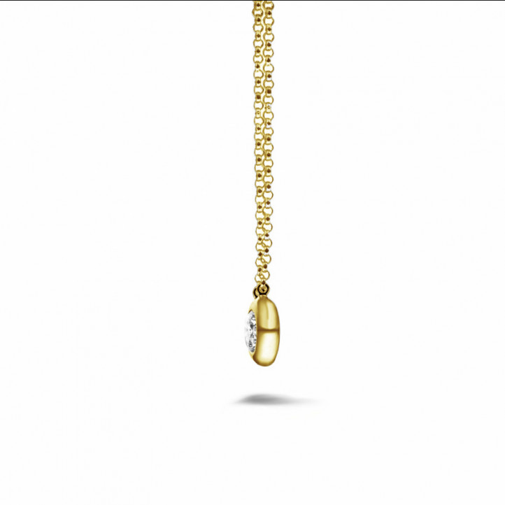 0.50 Karat diamantener Anhänger in Zargenfassung aus Gelbgold