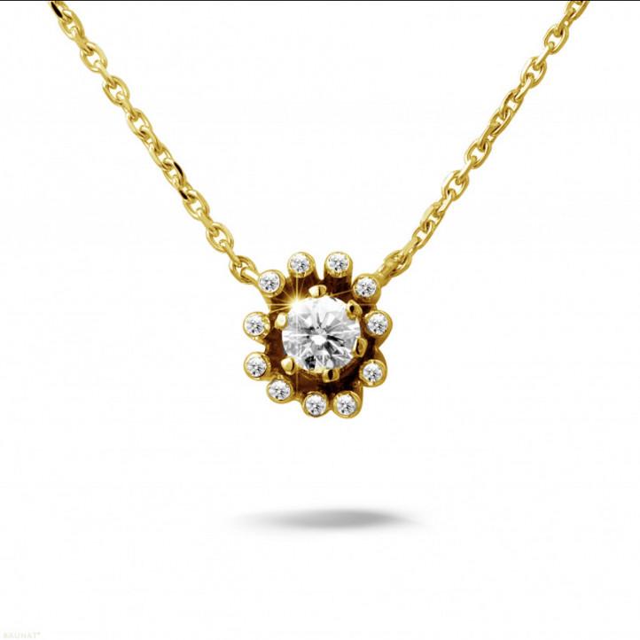 0.25 Karat diamantener Design Anhänger aus Gelbgold
