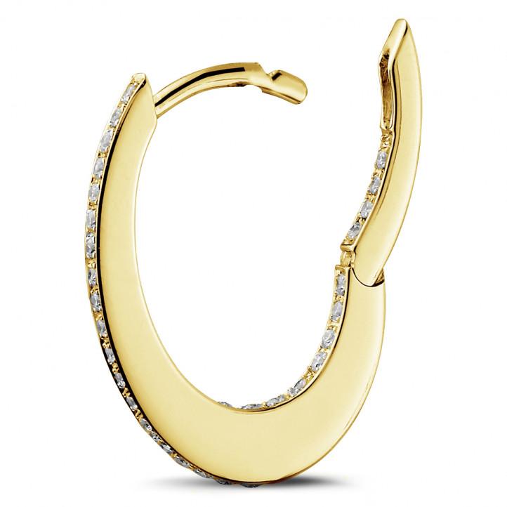 0.22 Karat Diamant Kreolen (Ohrringe) aus Gelbgold