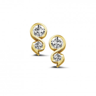 0.44 Karat diamantene Ohrringe aus Gelbgold