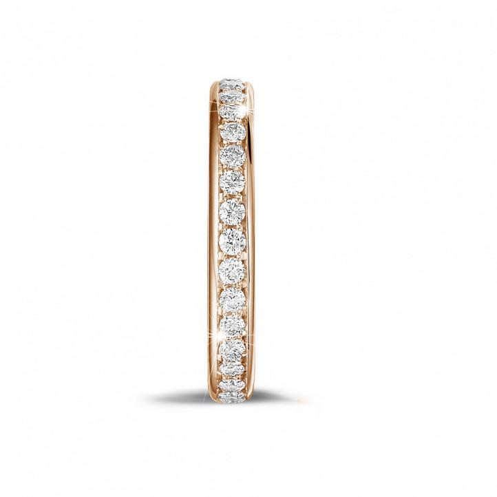 0.55 Karat diamantener Memoire Ring (rundherum besetzt) aus Rotgold