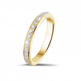 0.55 Karat diamantener Memoire Ring aus Gelbgold