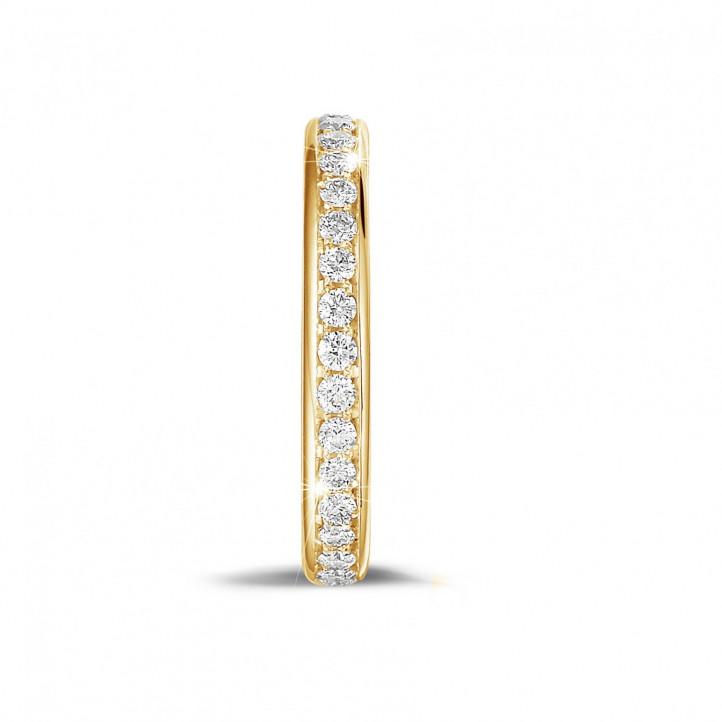0.55 Karat diamantener Memoire Ring (rundherum besetzt) aus Gelbgold