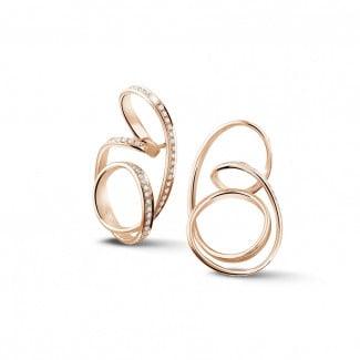 Fantasievoll - 1.50 Karat diamantene Design Ohrringe aus Rotgold
