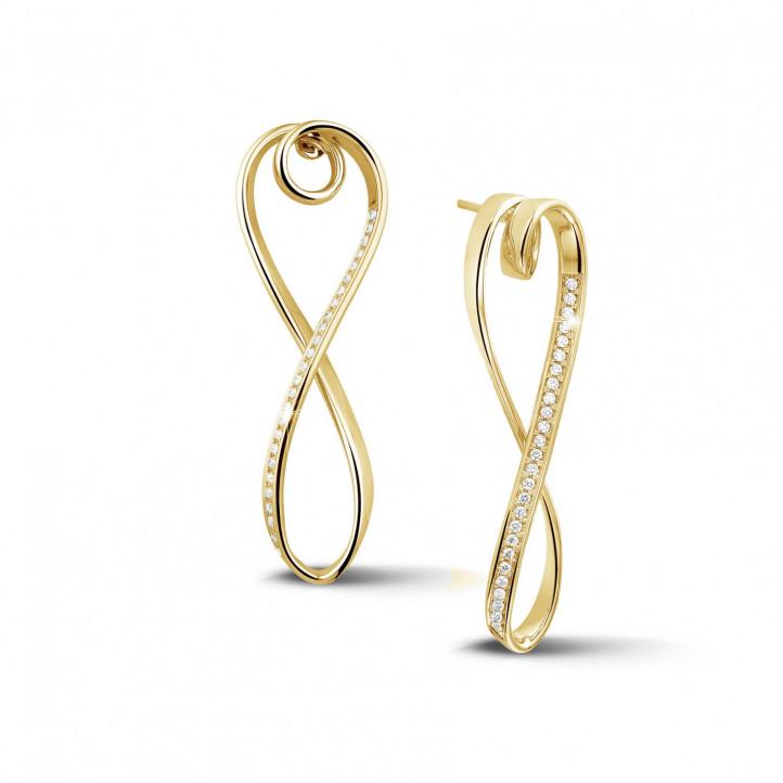 0.50 Karat diamantene Design Ohrringe aus Gelbgold