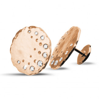 Rotgold - 0.26 Karat diamantene Design Ohrringe aus Rotgold