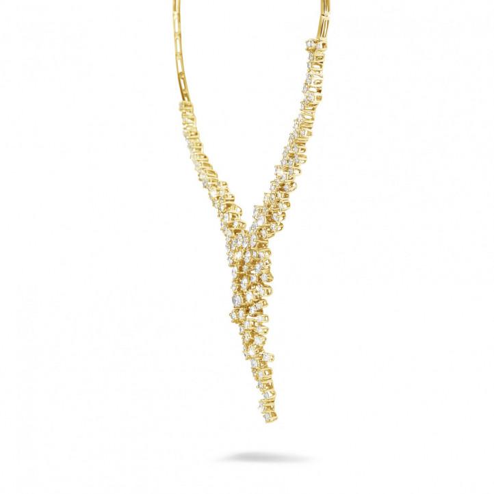 5,90 Karat diamantene Halskette aus Gelbgold