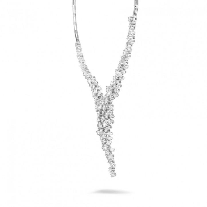 5,90 Karat diamantene Halskette aus Platin