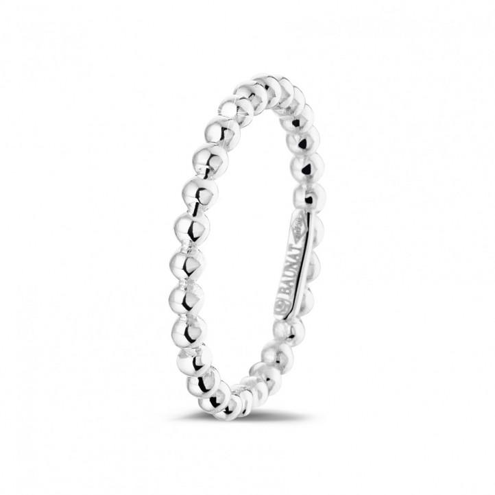 Kombination Ring mit Kügelchen aus Weißgold