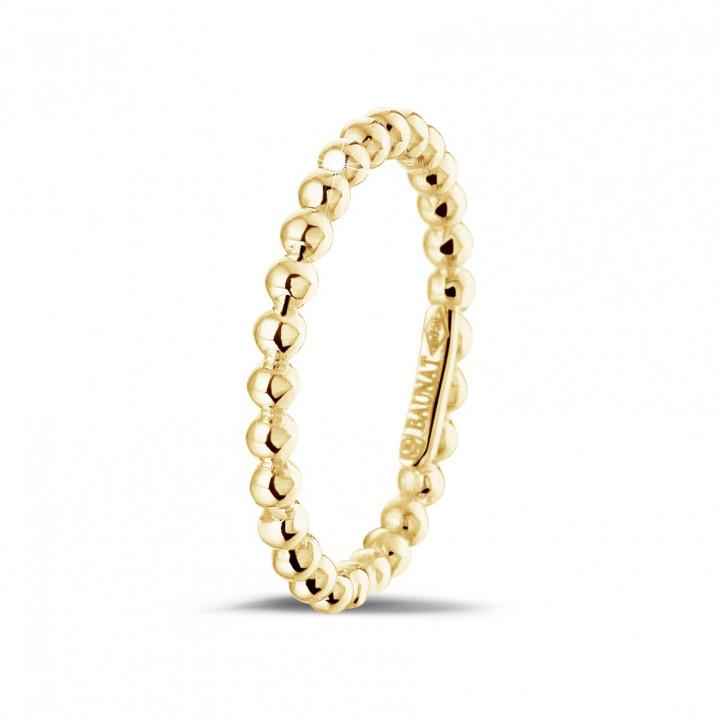 Kombination Ring mit Kügelchen aus Gelbgold