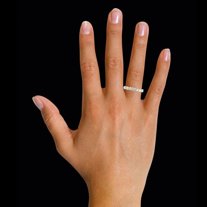 0.70 Karat diamantener Memoire Ring aus Gelbgold