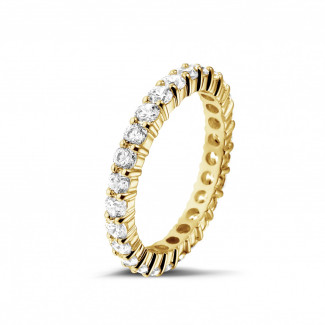 Diamant Memoire Ring aus Gelbgold - 1.56 Karat diamantener Memoire Ring aus Gelbgold
