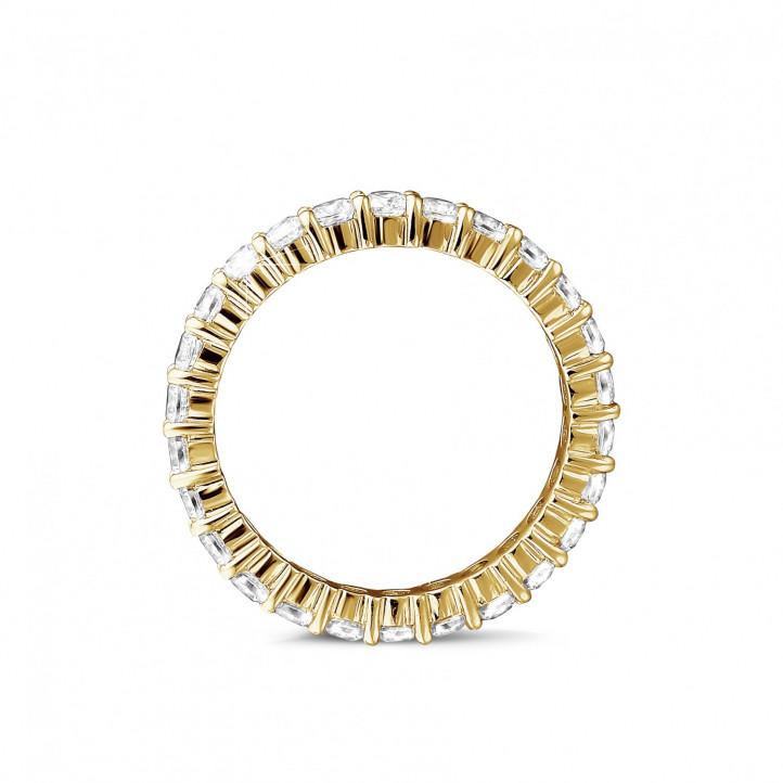1.56 Karat Diamant Memoire Ring aus Gelbgold