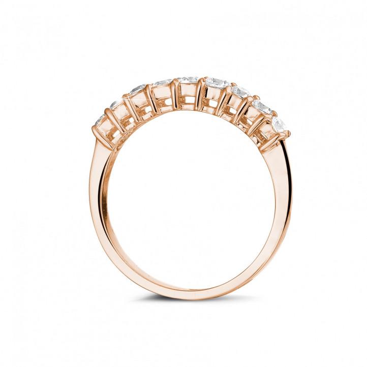 0.54 Karat diamantener Memoire Ring aus Rotgold