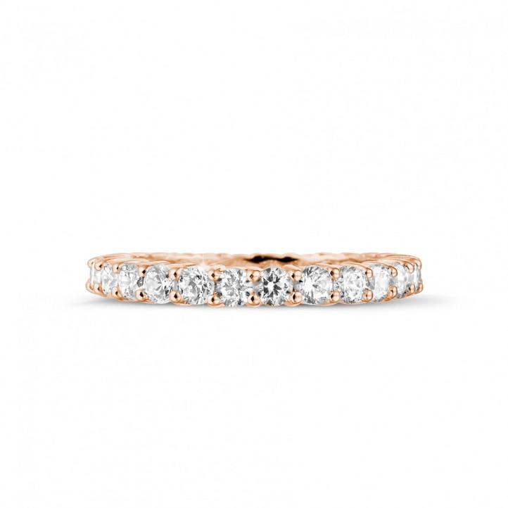 1.56 Karat Diamant Memoire Ring aus Rotgold