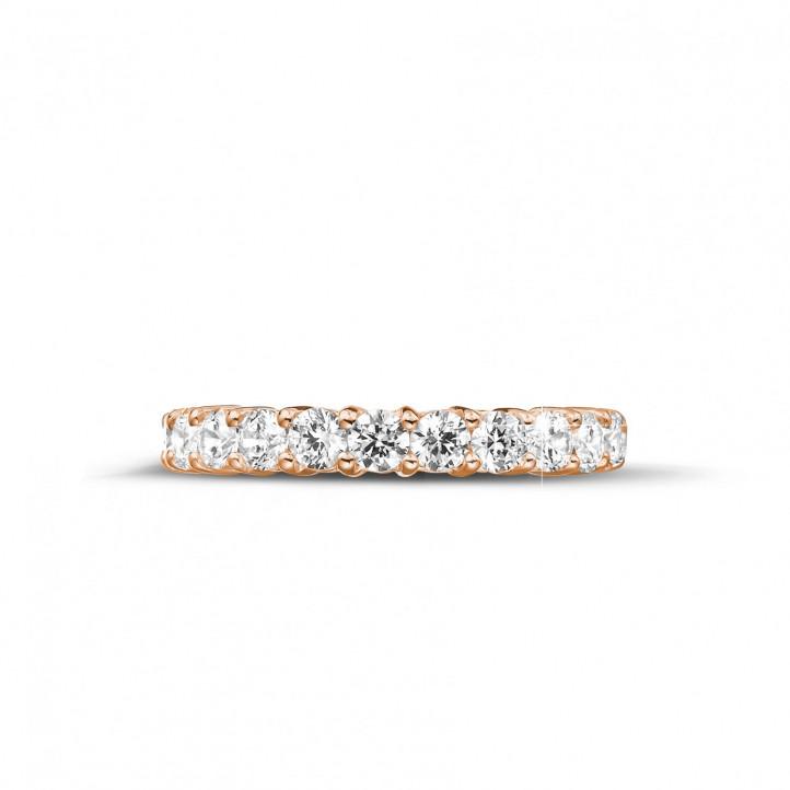2.30 Karat Diamant Memoire Ring aus Rotgold