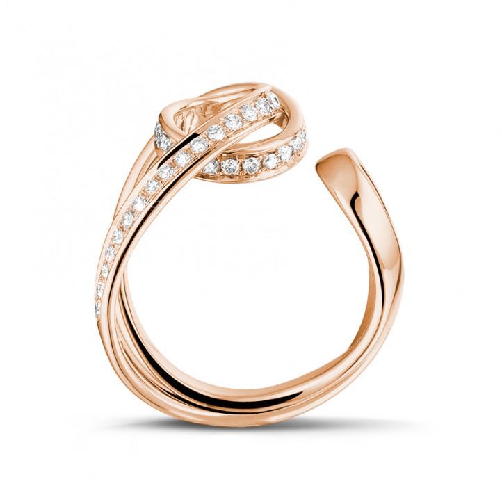 0.55 Karat diamantener Design Ring aus Rotgold