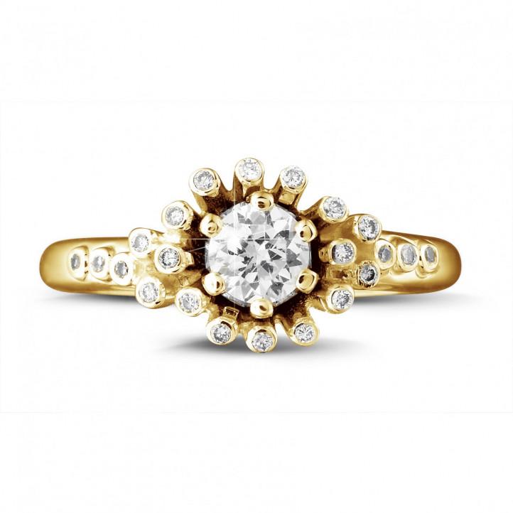 0.50 Karat diamantener Design Ring aus Gelbgold