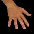 0.90 Karat diamantener Design Ring aus Gelbgold