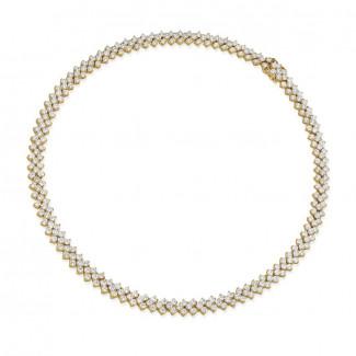 Halsketten aus Gelbgold - 19.50 Karat Diamant Halskette mit Fischgrätmuster aus Gelbgold