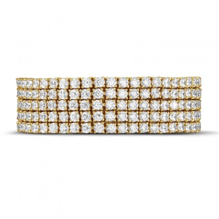 25.90 Karat breites Diamant Tennisarmband aus Gelbgold