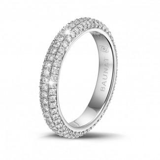 Ringe - 0.85 Karat diamantener Memoire Ring (rundherum besetzt) aus Weißgold