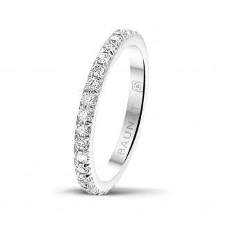 Ringe - 0.55 Karat Memoire Ring (rundherum besetzt) aus Platin mit runden Diamanten