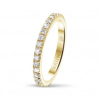 Ringe - 0.55 Karat Memoire Ring (rundherum besetzt) aus Gelbgold mit runden Diamanten