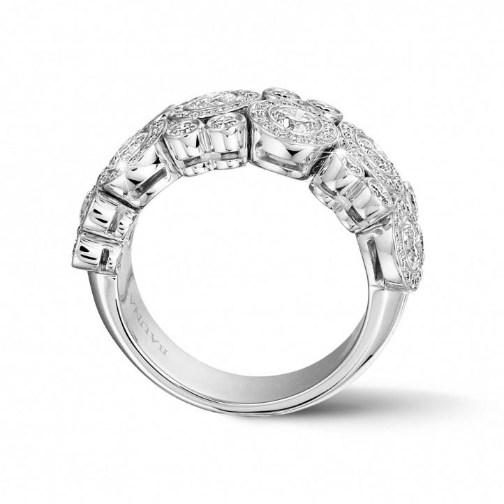 1.80 Karat Diamantring aus Weißgold