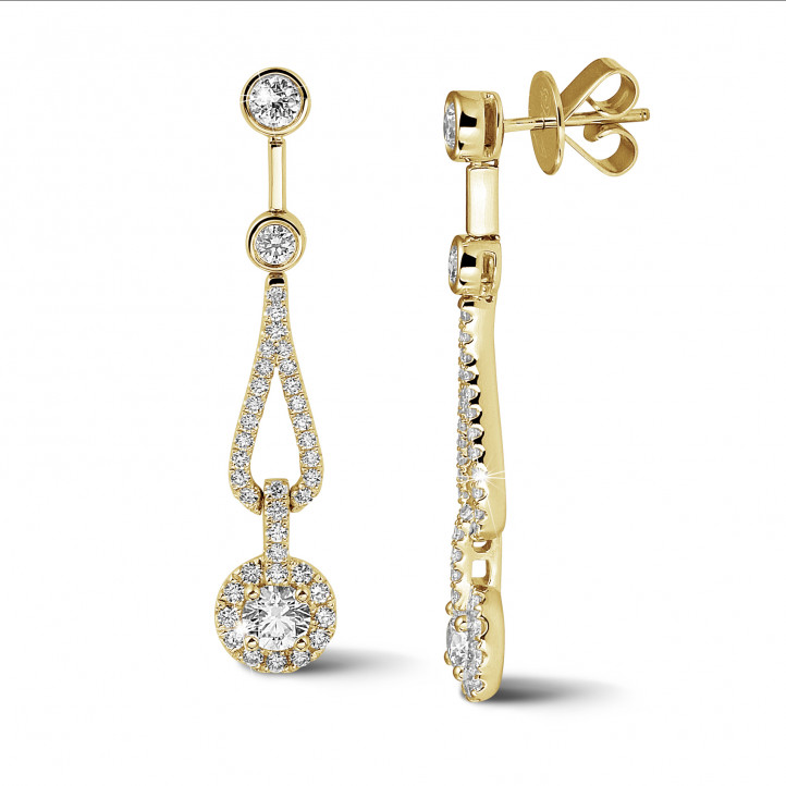 1.20 Karat Diamant Ohrringe aus Gelbgold
