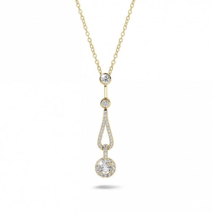 0.50 Karat Diamant Anhänger aus Gelbgold