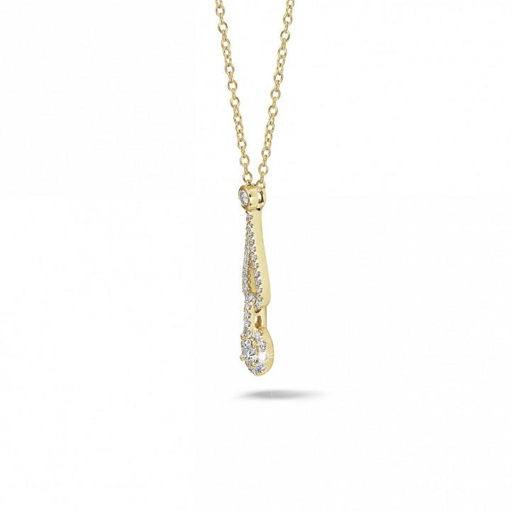0.45 Karat Diamant Anhänger aus Gelbgold
