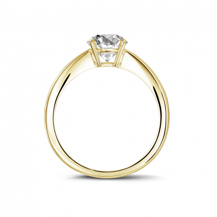 1.90 Karat Solitärring aus Gelbgold mit ovalem Diamant