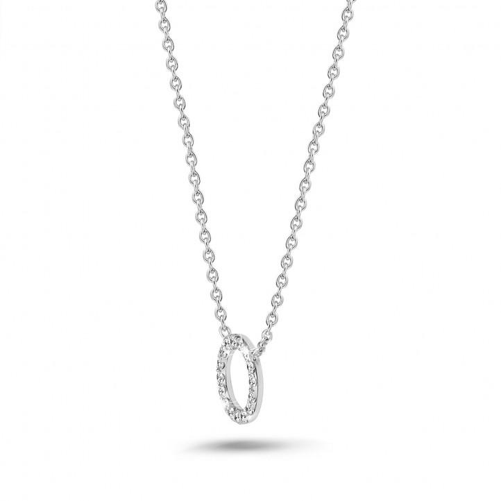 0.12 Karat Diamant Eternity Halskette aus Weißgold