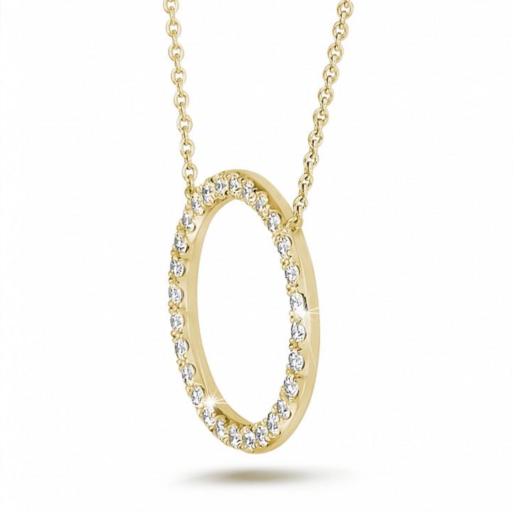 0.54 Karat Diamant Eternity Halskette aus Gelbgold