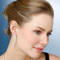 1.90 Karat diamantene Design Ohrringe aus Weißgold