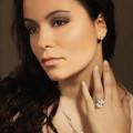 0.25 Karat diamantene Design Ohrringe aus Weißgold