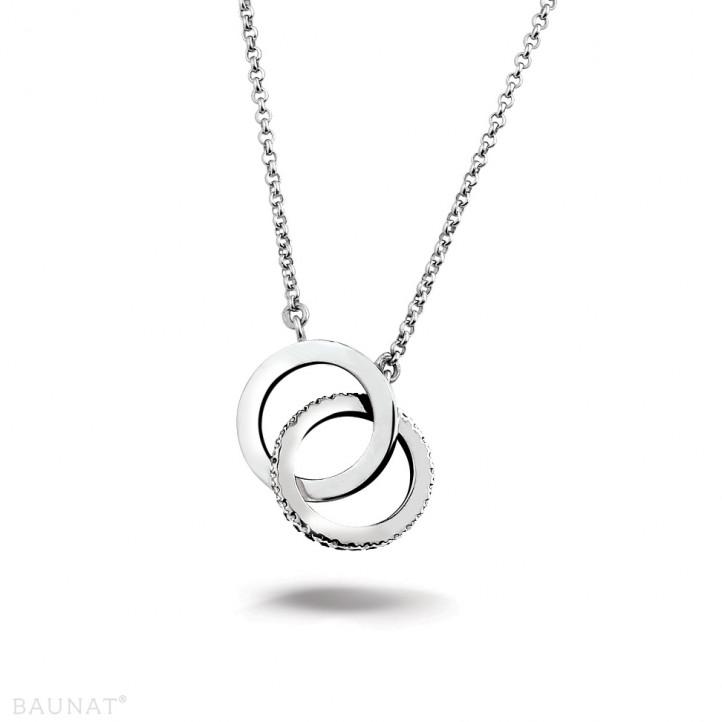0.20 Karat diamantene Design Infinity Halskette aus Weißgold