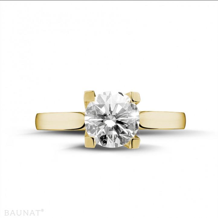 2.00 Karat diamantener Solitärring aus Gelbgold