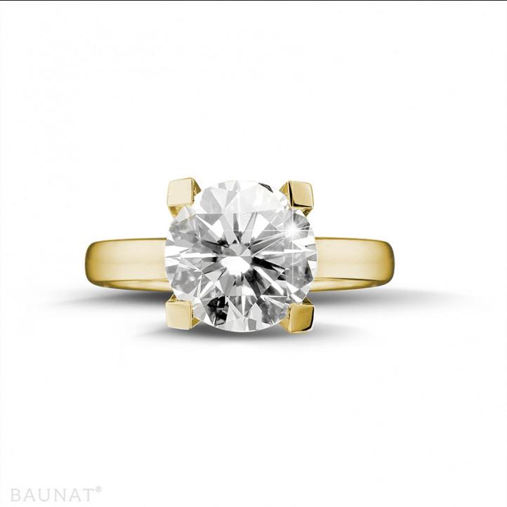 3.00 Karat diamantener Solitärring aus Gelbgold