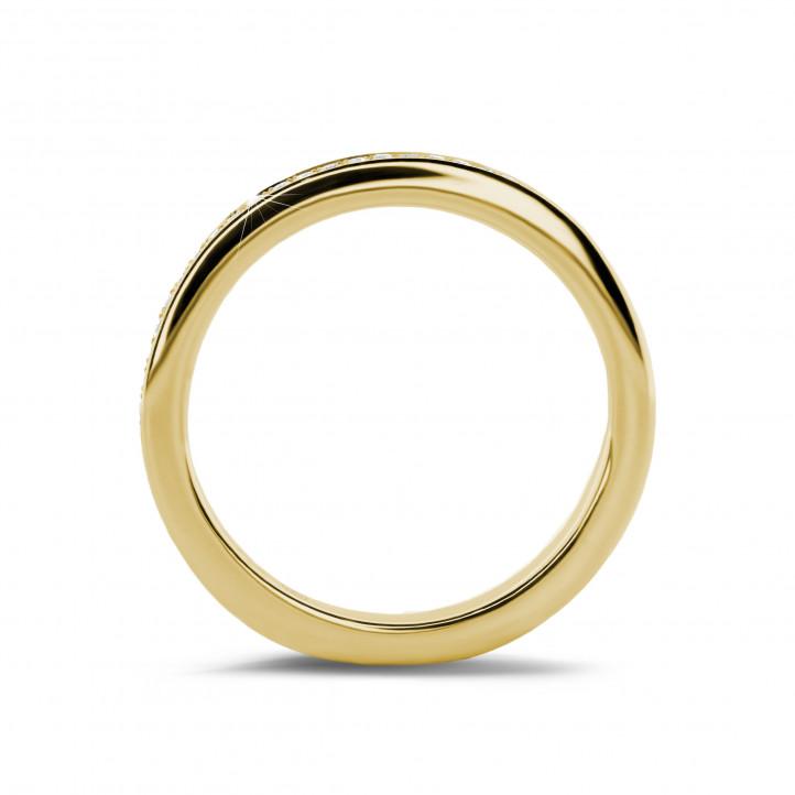 0.22 Karat diamantener Memoire Ring (rundherum besetzt) aus Gelbgold