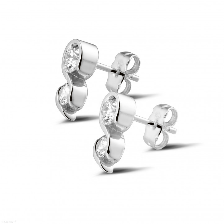 1.00 Karat diamantene Ohrringe aus Weißgold