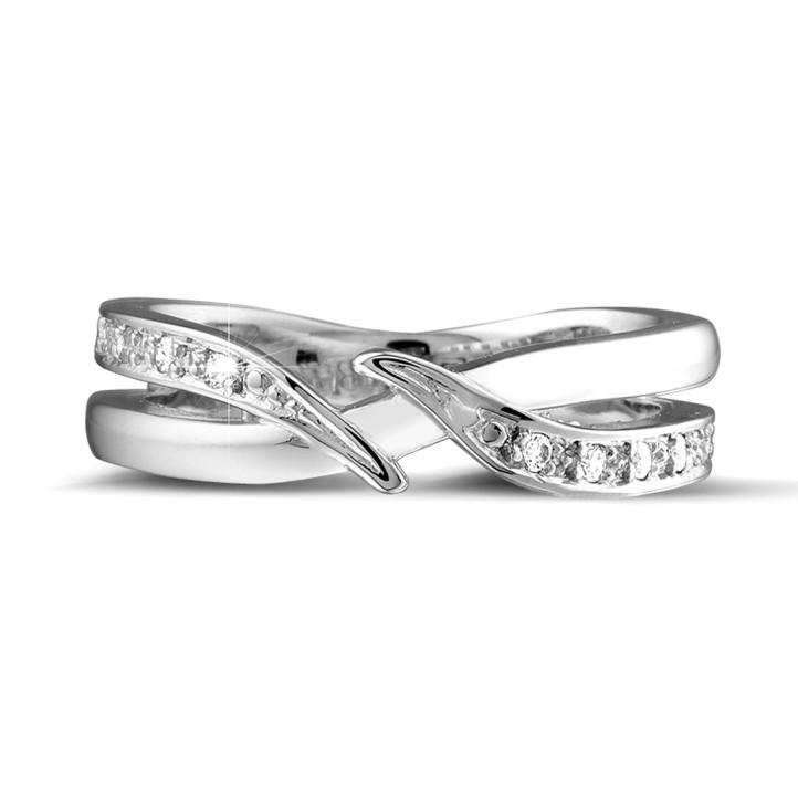0.11 Karat Diamantring aus Weißgold