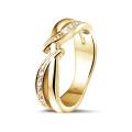 0.11 Karat Diamantring aus Gelbgold